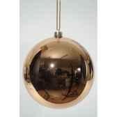 boule plastique uni brillant amande 140 mm kaemingk 22317