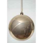 boule plastique uni brillant sable 140 mm kaemingk 22318