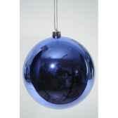 boule plastique uni brillant bleu de cobalt 140 mm kaemingk 22323