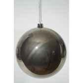 boule plastique uni brillant 200 mm gris argile kaemingk 22469