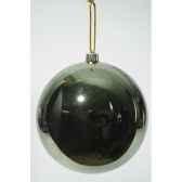 boule plastique uni brillant 200 mm vert classique kaemingk 22480
