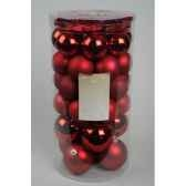 boules etoiles plastique mix rouge noekaemingk 23113