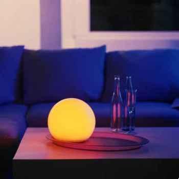 Lampe Sphère Moonlight Blanche diam.250 sur batterie -BMFL250130