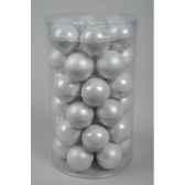 mini boules en verre emaimat 40 mm blanc d hiver kaemingk 10406