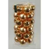 mini boules en verre brilmat 40 mm or clair kaemingk 10408