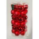 mini boules en verre brilmat 40 mm rouge noekaemingk 10410