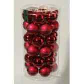 mini boules en verre brilmat 40 mm bordeaux kaemingk 10411