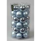 mini boules en verre brilmat 40 mm bleu ciebrillant kaemingk 10417