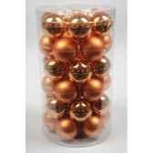 mini boules en verre brilmat 40 mm citrouille kaemingk 10423
