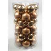 mini boules en verre brilmat 40 mm amande kaemingk 10424