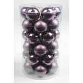 mini boules en verre brilmat 40 mm figue kaemingk 10430