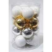 boules verre sparkling whites 35 mm kaemingk 13310