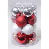 boules en verre mix rge blanc 35 mm kaemingk 13322