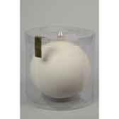 boule uni mat 150 mm blanc laine kaemingk 113166