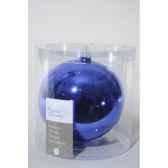 boule uni brillant 150mm bleu de cobalt kaemingk 113606