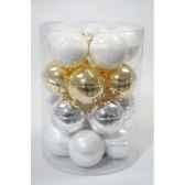 boules mach sparkling whites 60mm kaemingk 142120