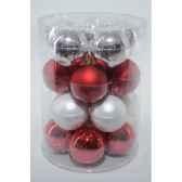 boules mach mix rouge blanc 60mm kaemingk 142132