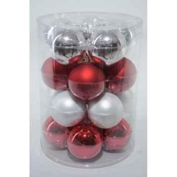 Boules mach mix rouge-blanc 60mm Kaemingk -142132