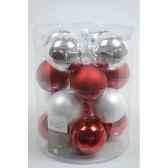 boules mach mix rouge blanc 80mm kaemingk 145011