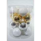 boules mach sparkling whites 80mm kaemingk 145020