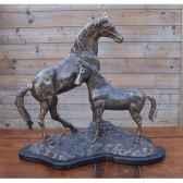 2 chevaux base en bois an0083br bi