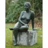 femme nue assise b1093