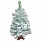 sapin narvik mini pine green flocked white h45cm van der gucht 31nar45