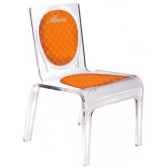 chaise personnalisable baby chic orange aitali