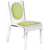 chaise personnalisable baby polka bleue aitali