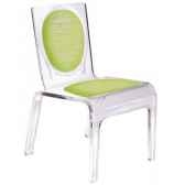 chaise personnalisable baby polka orange aitali