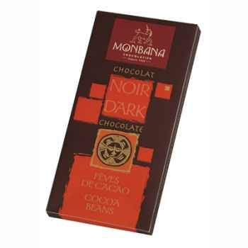 Présentoir 12 tablettes chocolat noir aux fèves cacao Monbana -11910005