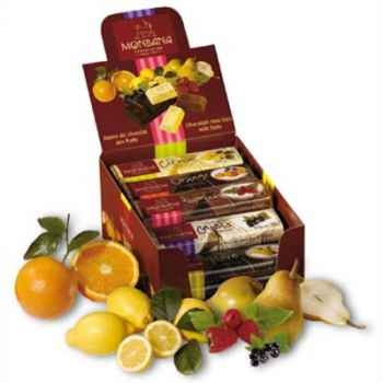 Pack 30 barres chocolatées aux fruits Monbana -11910050