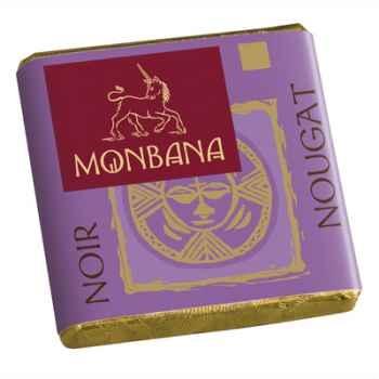 Chocolat Napolitain Noir aux éclats de nougat 9% Monbana -11120073