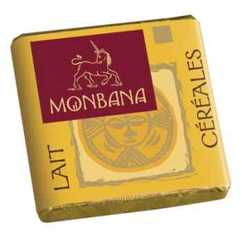 Chocolat Napolitain Lait aux Céréales croustillantes 9% Monbana -11150010