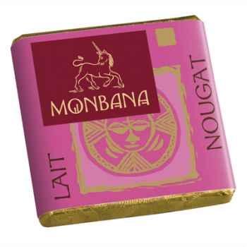 Chocolat Napolitain Lait aux éclats de Nougat 9% Monbana -11150013