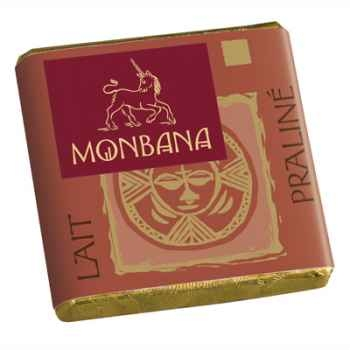 Chocolat Napolitain Lait avec fourrage Praliné Monbana -11170005