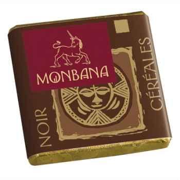 Chocolat Napolitain noir nougat et noir céréales Monbana -11180031