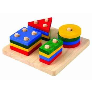 Empilages géométriques jouet en bois plantoys 2403