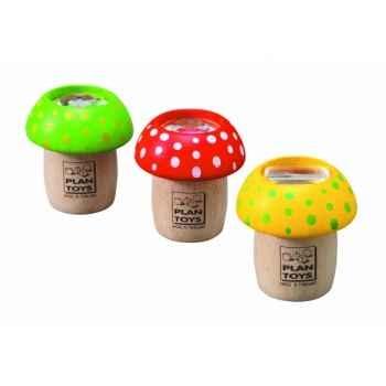 Boîte de 6 kaléidoscopes champignons jouet en bois plantoys 4317