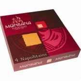 lot de 24 etuis de 4 chocolats napolitains monbana 11180132