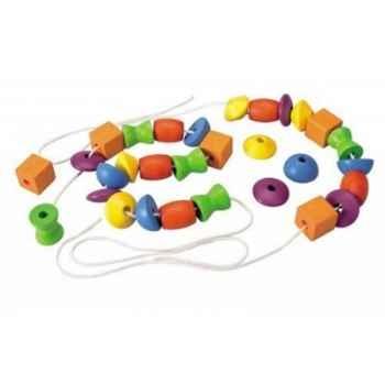 Perles multiformes jouet en bois plantoys 5353