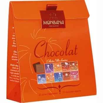 Lot de 6 étuis chocolat Collection Villes Lumières Monbana -11180052
