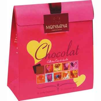 Lot de 6 étuis chocolat Collection Cœur de chocolat Monbana -11180046