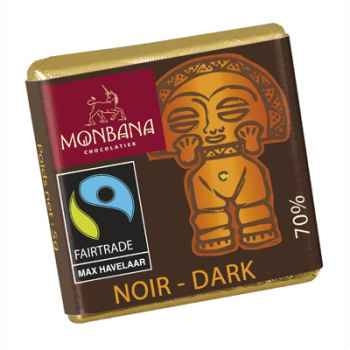 Chocolat Napolitain 5g au chocolat noir 70% Monbana -11111611