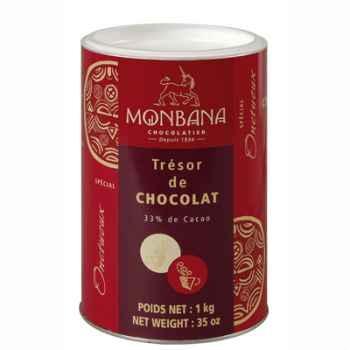 Boîte de chocolat en poudre Trésor de Chocolat Monbana -121M030