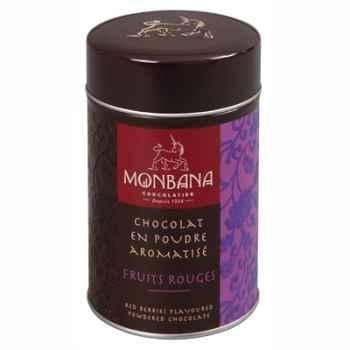 Boîte de chocolat en poudre arôme Fruits Rouges Monbana -121M091