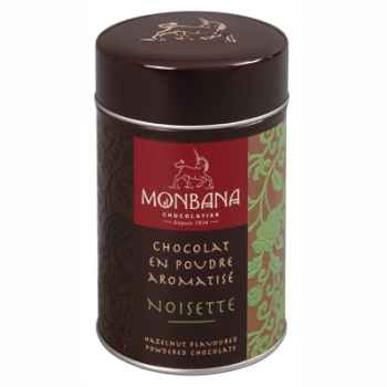 Lot de 2 Boîtes de chocolat en poudre arôme Noisettes Monbana -121M092