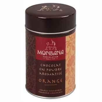 Boîte de chocolat en poudre arôme Orange Monbana -121M014