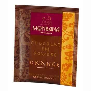 Dosette de chocolat en poudre arôme Orange Monbana -121M047