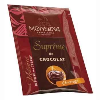 Dosette de Suprême de Chocolat en poudre arôme Orange Monbana -121M162